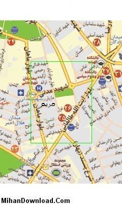 نقشه یو پی اس در اراک
