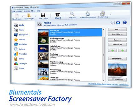 ساخت  محافظ صفحه نمایش با Blumentals ScreenSaver Factory v6.0