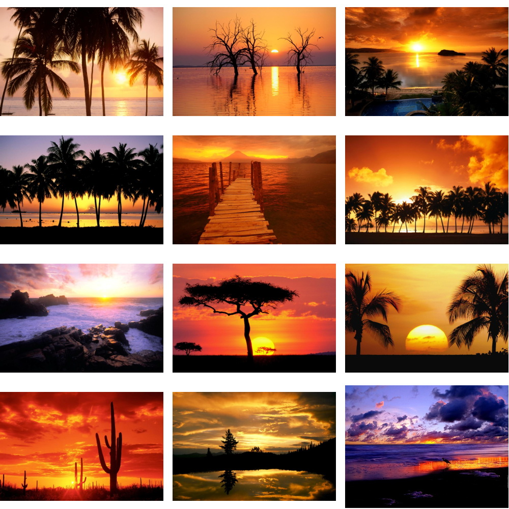 دانلود مجموعه والپیپر Amazing Sunsets Sunrises