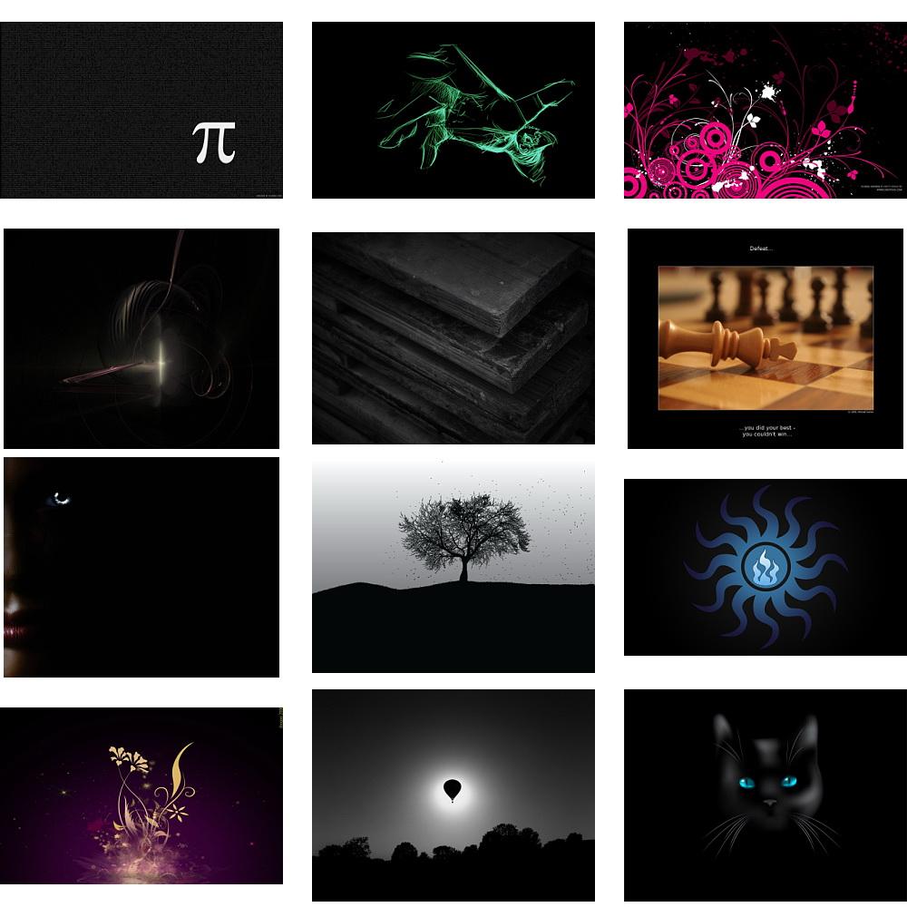 دانلود پس زمینه های گرافیکی مشکی رنگ و تاریک مخصوص دسکتاپ کامپیوتر