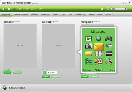 محیط نرم افزار Themes Creator