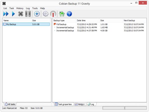 دانلود نرم افزار Cobian Backup پشتیبان گیری