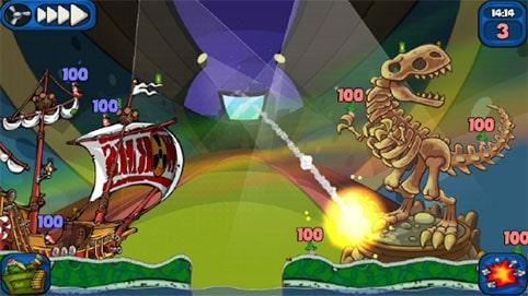 محیط بازی اندروید Worms 2
