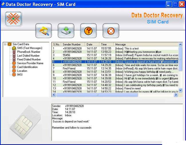 دانلود نرم افزار Data Doctor Recovery SIM Card