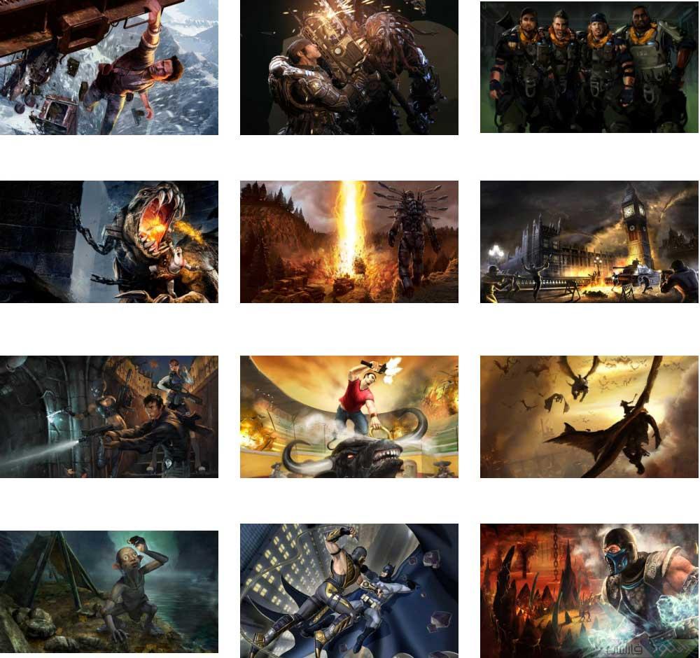 دانلود عکس های پشت زمینه از بازی ها Games Wallpapers HD