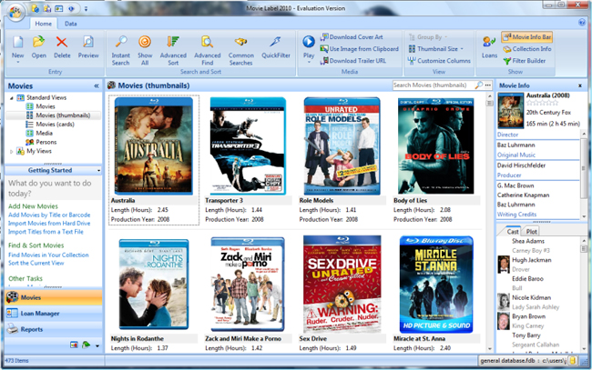 دانلود نرم افزار Movie Label آرشیو منظم و دسته بندی فیلمها