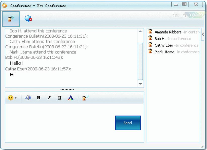 دانلود مسنجر BigAnt Office Messenger محیط شبکه