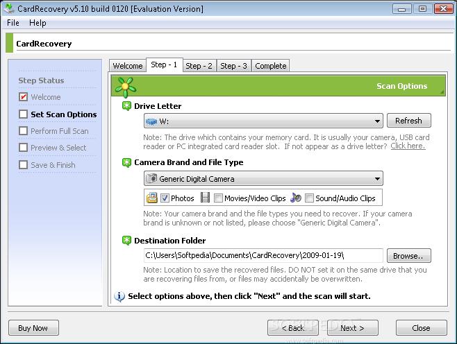 دانلود CardRecovery بازيابی اطلاعات كارتهای حافظه