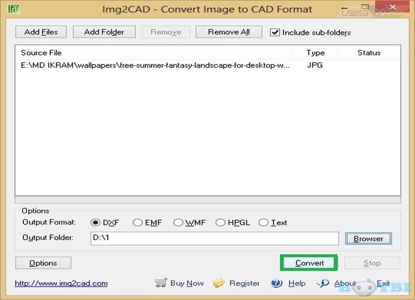 دانلود نرم افزار Img2Cad تبديل تصاوير به فايلهاي اتوكد