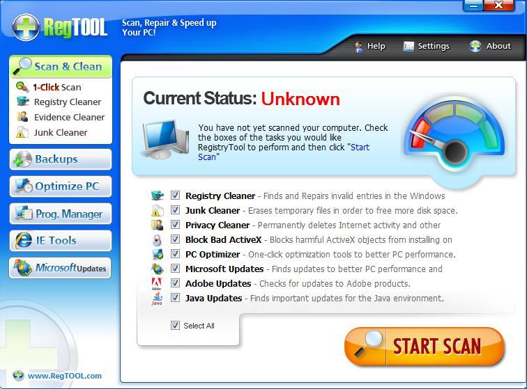 دانلود نرم افزار RegTool تعمیر و افزایش سرعت سیستم