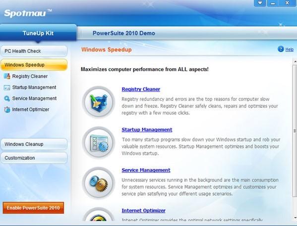 دانلود نرم افزار Spotmau TuneUp Kit پاکسازی و بهینه سازی ویندوز
