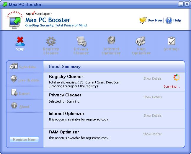 دانلود نرم افزار Max PC Booster بهینه سازی