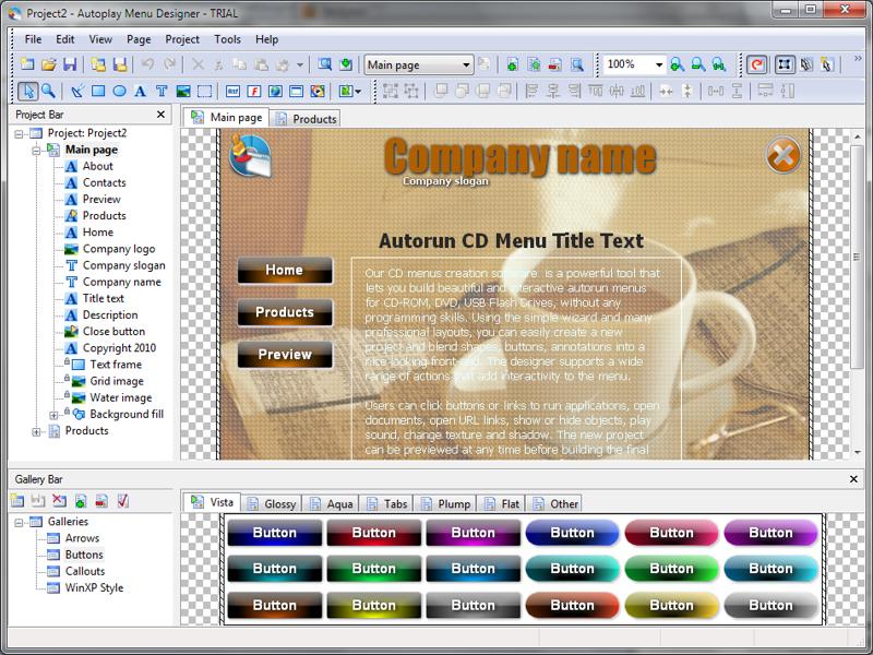 دانلود نرم افزار Autoplay Menu Designer Pro ساخت اتوران