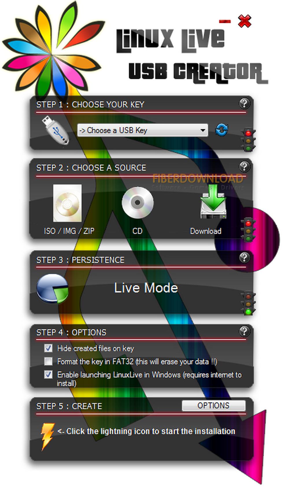 دانلود نرم افزار ساخت لینوکس در ویندوز LinuxLive USB Creator