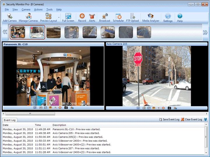 دانلود نرم افزار Security Monitor Pro دوربین های مدار بسته