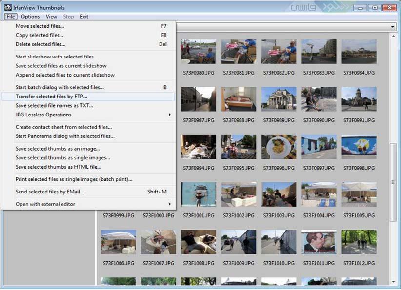 دانلود نرم افزار IrfanView v4.35 نمایش تصاویر به صورت گرافیکی