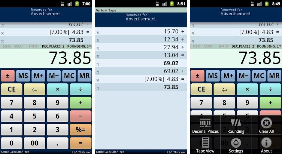 دانلود نرم افزار Office Calculator ماشین حساب آفیس برای اندروید