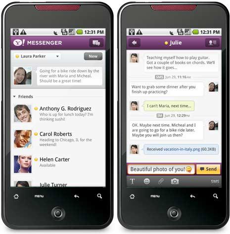 دانلود جدید ترین نسخه Yahoo Massenger برای اندروید