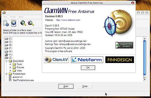 دانلود نرم افزار ClamWin آنتی ویروس قدرتمند