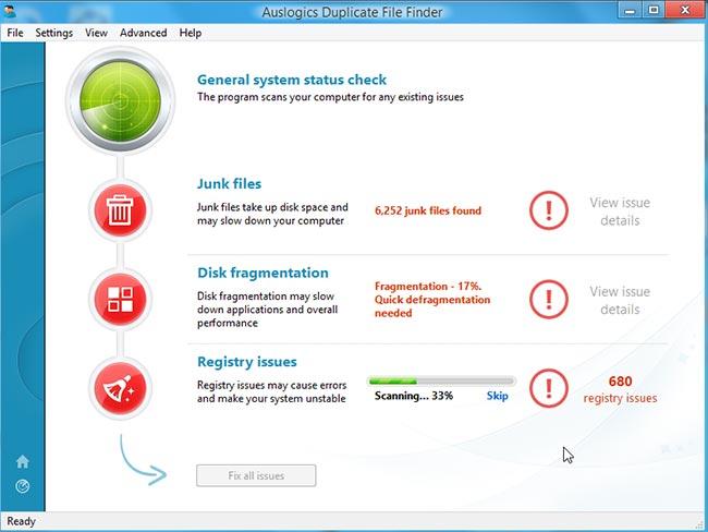 دانلود نرم افزار حذف کردن فایلهای تکراری Auslogics Duplicate File Finder