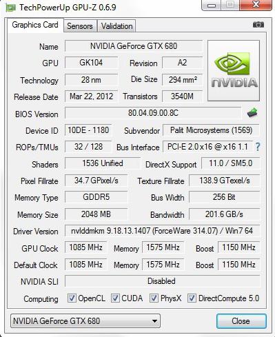 دانلود نرم افزار GPU-Z نمایش مشخصات کامل کارت گرافیک