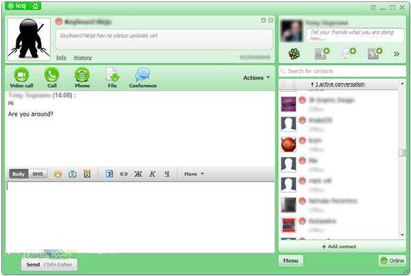 دانلود نرم افزار مسنجر و چت ICQ