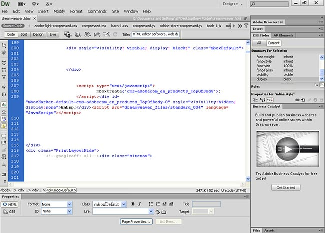 دانلود آخرین نسخه نرم افزار Adobe Dreamweaver CS 6 طراحی وبسایت