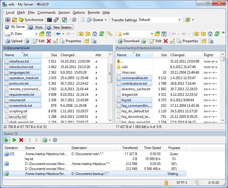 دانلود نرم افزار مدیریت اف تی پی و اس سی پی WinSCP