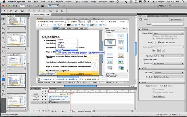 دانلود نرم افزار Adobe Captivate ساخت محتوای آموزشی