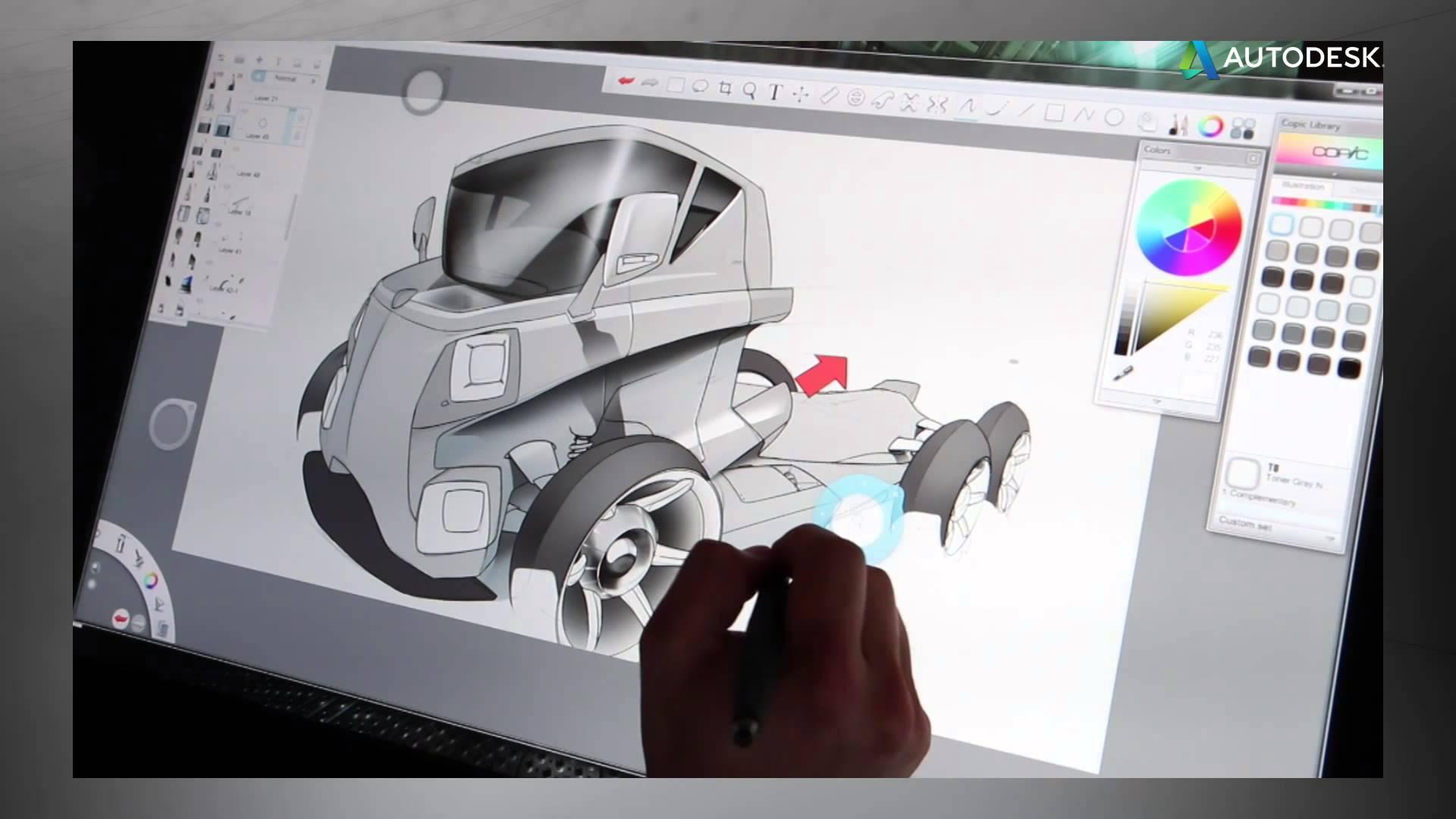 دانلود نرم افزار Autodesk SketchBook Pro طراحی و نقاشی اسکچ بوک