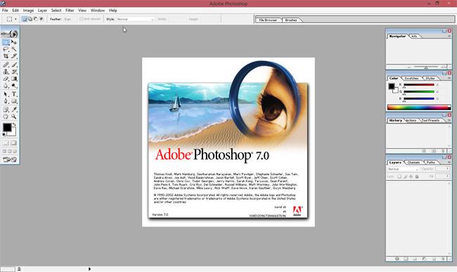 نرم افزار فتوشاپ 7 همراه با سریال نامبر