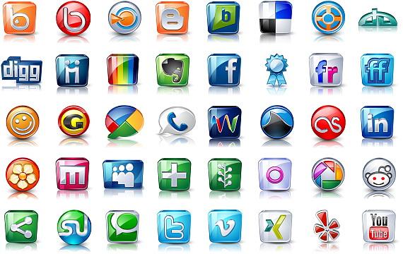دانلود بسته High Detail Social Icons آیکون با موضوع شبکه های اجتماعی