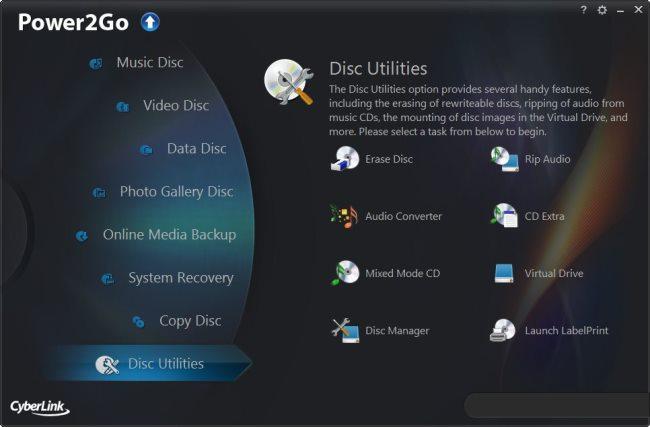 دانلود نرم افزار CyberLink Power2Go رایت انواع دیسک