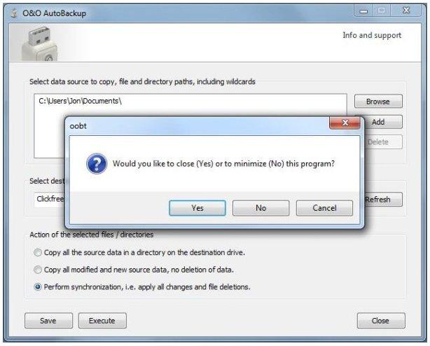 نرم افزار O&O AutoBackup پشتیبان گیری خودکار