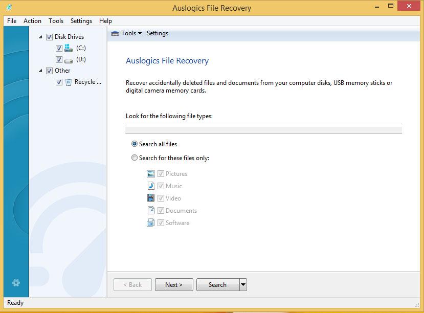 دانلود نرم افزار Auslogics File Recovery بازیابی اطلاعات پاک شده