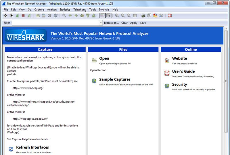 دانلود نرم افزار آنالیزر شبکه Wireshark