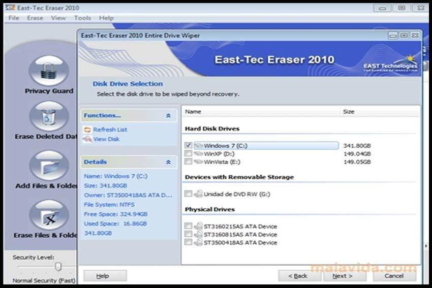 East Tec Eraser