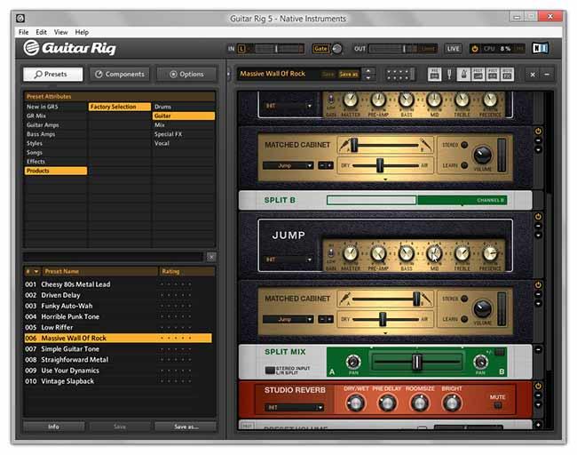 دانلود نرم افزار Native Instruments Guitar Rig 5.1.1 Pro ساخت افکت گیتار الکترونیک