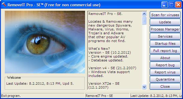 دانلود نرم افزار RemoveIT PRO محافظت از سیستم در مقابل ویروس ها