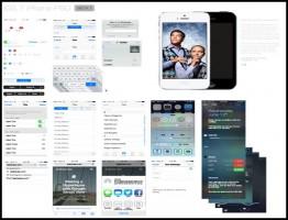 iOS 7 GUI PSD (iPhone 5)