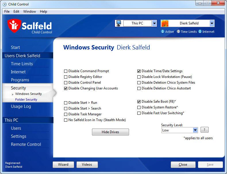 دانلود نرم افزار Salfeld Child Control کنترل فرزندان