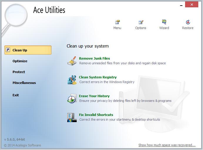 دانلود نرم افزار Ace Utilities بهینه سازی و ارتقای کامپیوتر