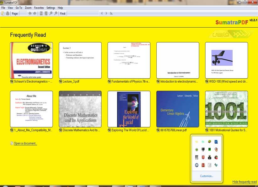 دانلود نرم افزار مدیریت و مشاهده فایل های پی دی اف Sumatra PDF