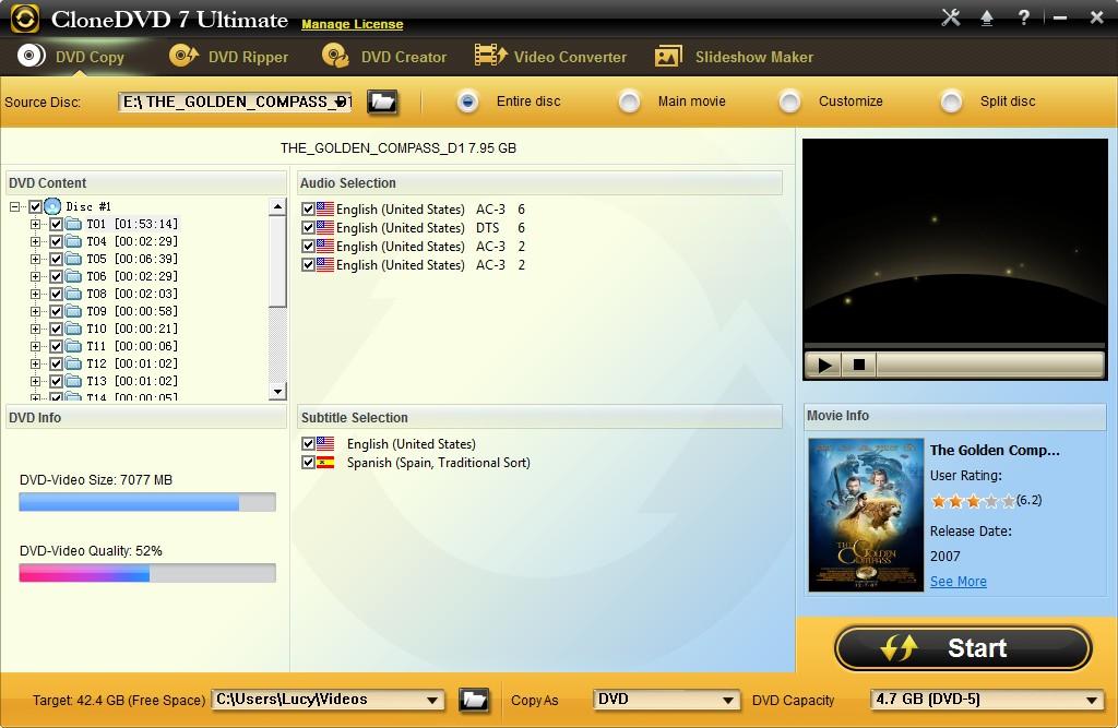 دانلود نرم افزار CloneDVD مدیریت دی وی دی