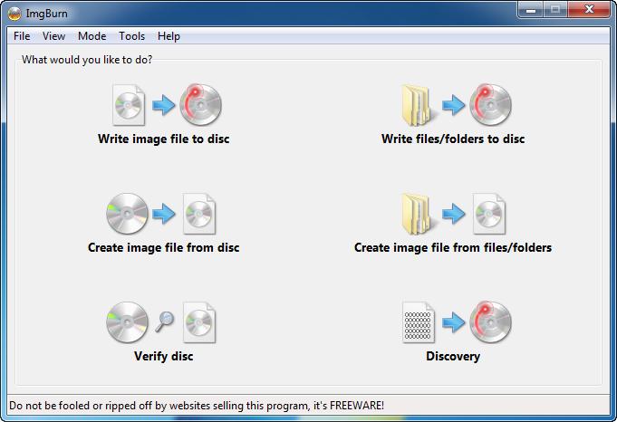 دانلود نرم افزار ImgBurn رایت سی دی و دی وی دی