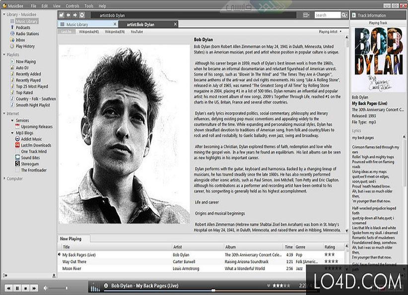 دانلود نرم افزار MusicBee  مدیریت و پخش کننده موزیک