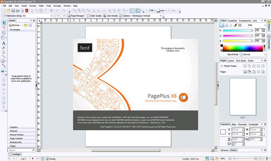 دانلود نرم افزار طراحی و چاپ اسناد Serif PagePlus