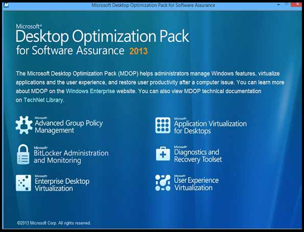 Microsoft Desktop Optimization 2013