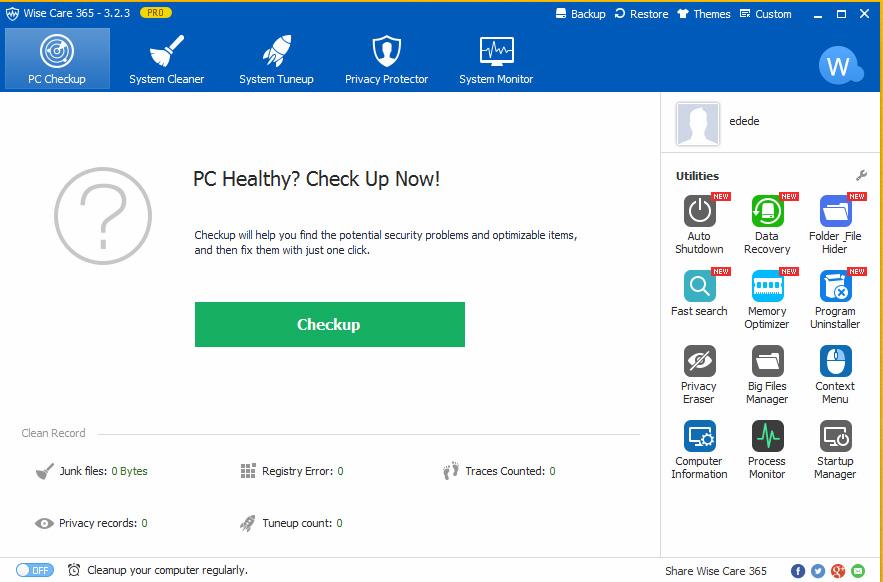 دانلود نرم افزار Wise Care 365 Pro افزایش سرعت سیستم ویندوز