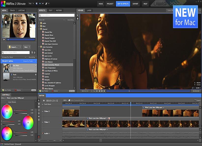 دانلود نرم افزار ویرایش فایل های ویدئویی HitFilm Ultimate